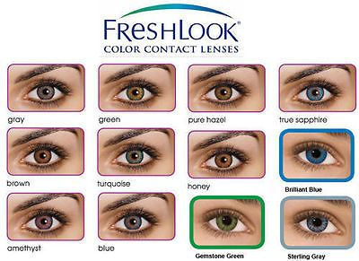 Lentilles De Couleur Freshlook Colorblends Freshlook Color Lenses 1 Year Use Contact Lenses Colored Coloured Contact Lenses Eye Color Chart