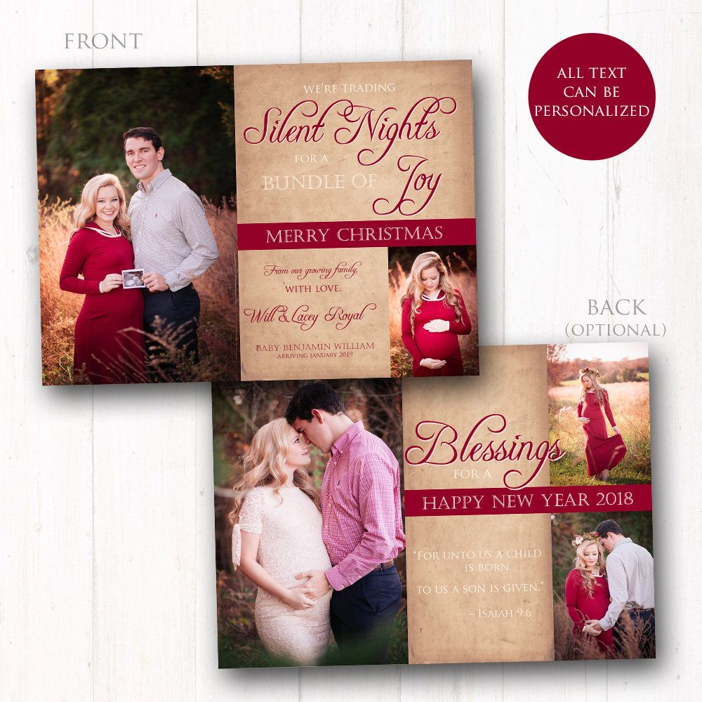 free wedding invitation psd%0A Pregnancy Christmas Card  Holiday Maternity Photo Greeting Card  Baby  Announcement  Prints Available  FREE SHIPPING  RUSH available