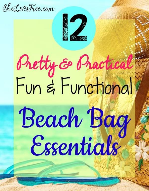 Fun & Functional Beach Bag Essentials to Be Ready for Any Beach or Pool Day!