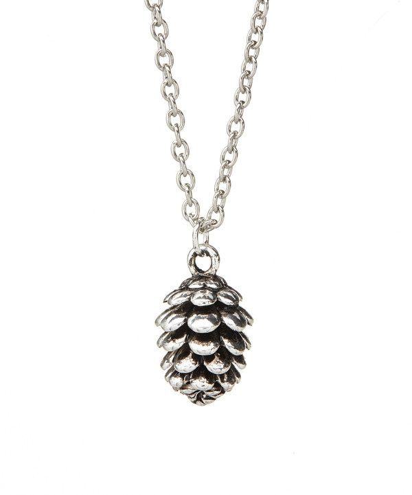 Look at this Silvertone Pinecone Pendant Necklace on #zulily today!