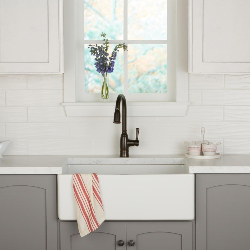 Daltile Restore Bright White 4 In X 16 In Ceramic Wavy Wall Tile 13 20 Sq Ft Case Re15416wavhd1p2 White Tile Backsplash Daltile Wall Tiles