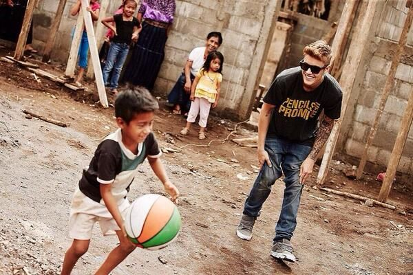 Justin Bieber (everybody sees the bad things not the good things what justin bieber does !!!)