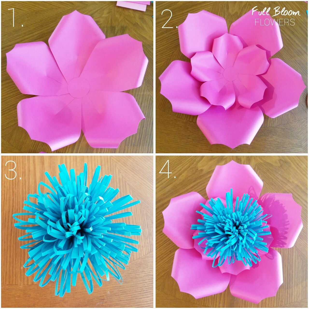 Diy Simple Paper Flower Paper Flowers Paper Flowers Flowers