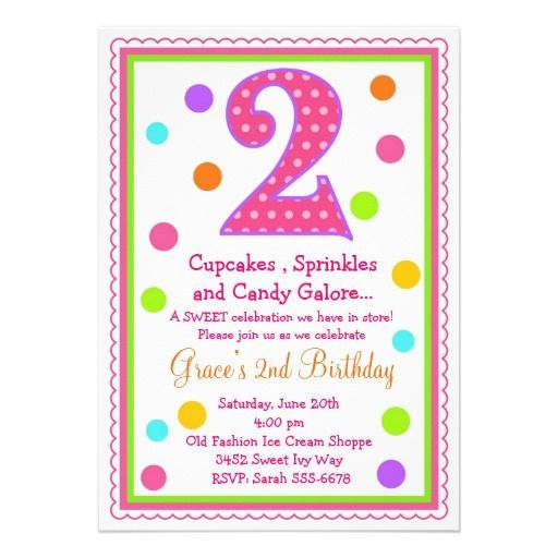 Image Result For 2nd Birthday Invitation SaYings