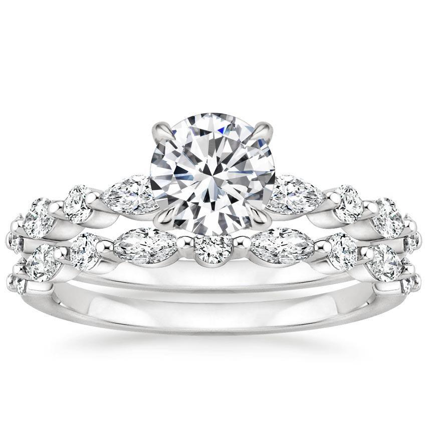 18k White Gold Versailles Diamond Ring 1 3 Ct Tw Diamond Bridal Sets Brilliant Earth Engagement Ring Earth Engagement Rings