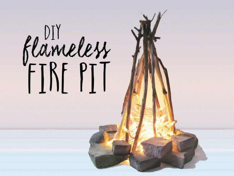 DIY Flameless Fire Pit | Fire pit, Indoor camping ...