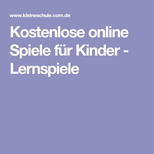 Kinder Lernspiele Online