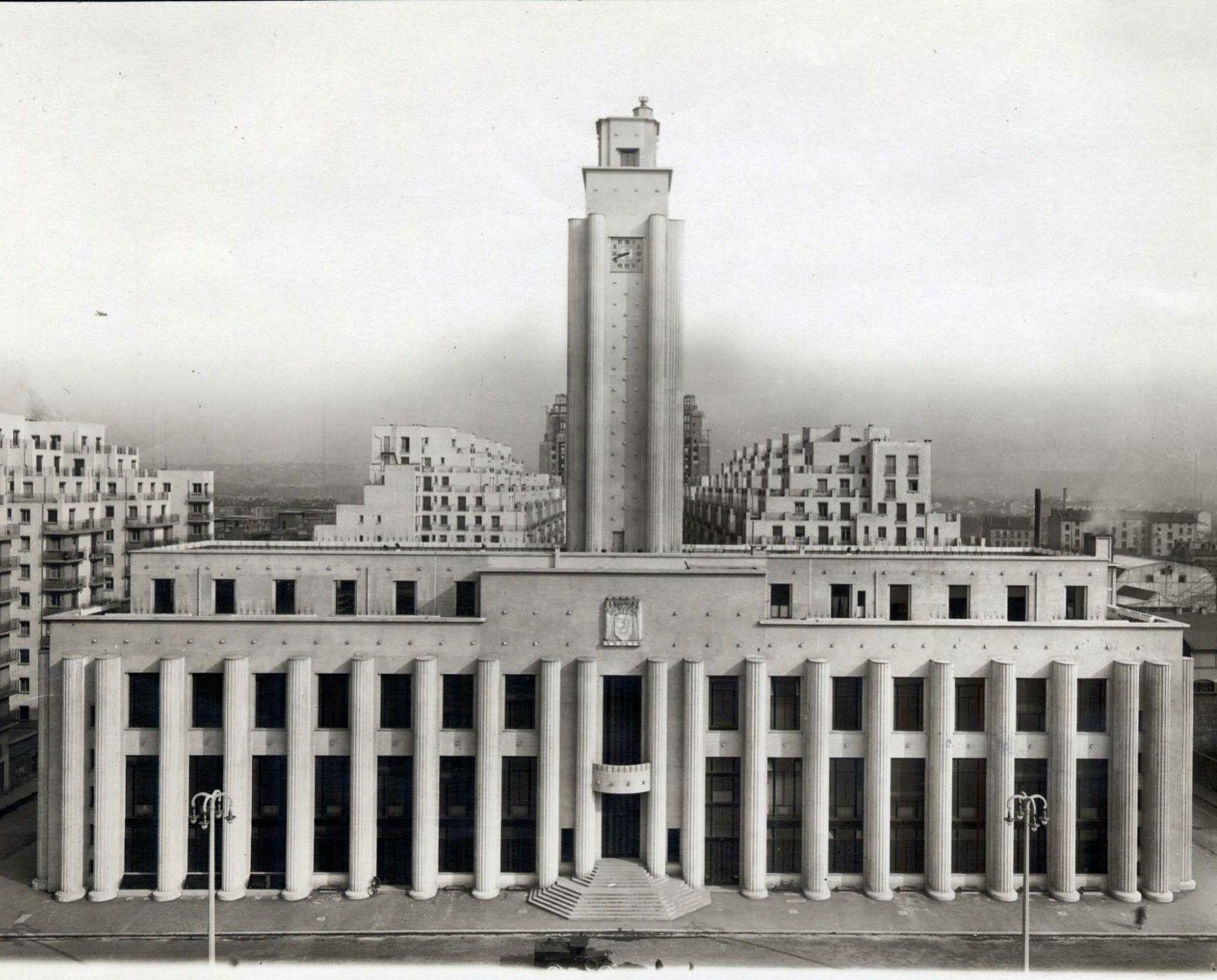 H´tel de ville Villeurbanne France Robert Giroud 1931 1934