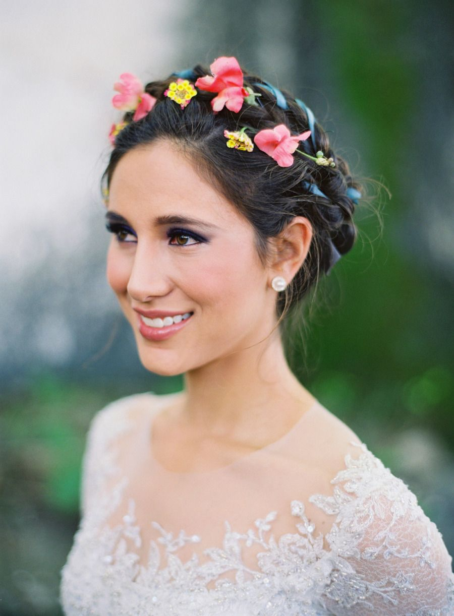 Floral Braided Crown Stylemepretty 2015 Mexican HairstylesChinese