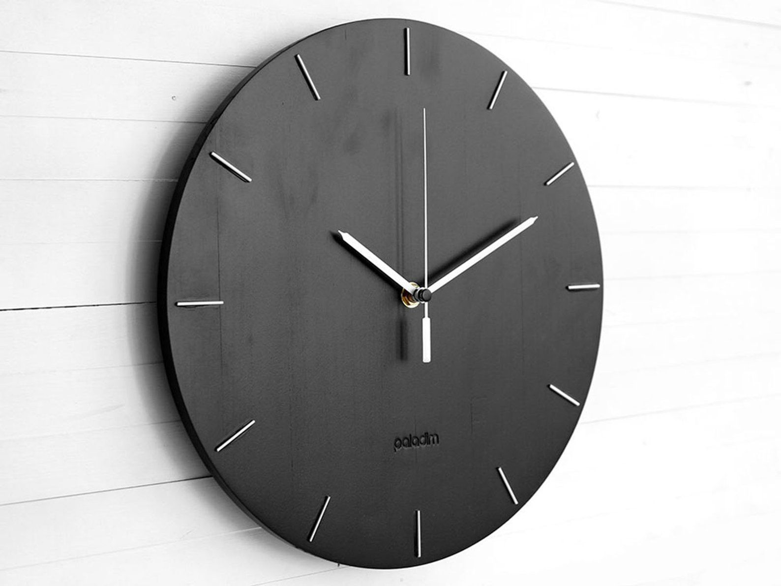 Modern Wooden Round Wall Clock 12 The Oval Contemporary Minimal Industrial Style Home And Office Decor Housewarming Gift Relojes De Pared Reloj Casas
