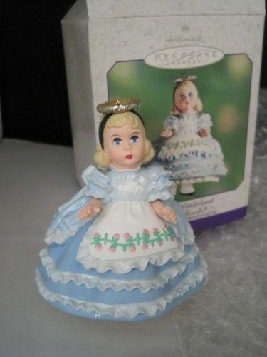 NIB-Hallmark-Alice-in-Wonderland-Madame-Alexander-Keepsake-Ornament-Mint