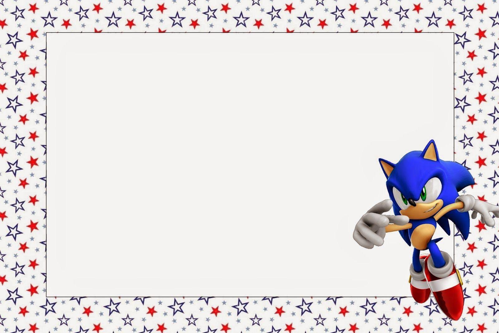 Sonic Invitaciones Para Imprimir Gratis Birthday 2018 8