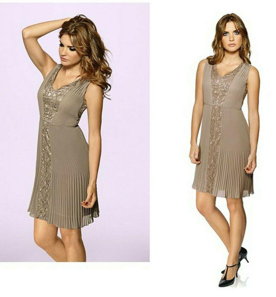 heine #damen #elegantes #chiffonkleid plissee-#kleid mit
