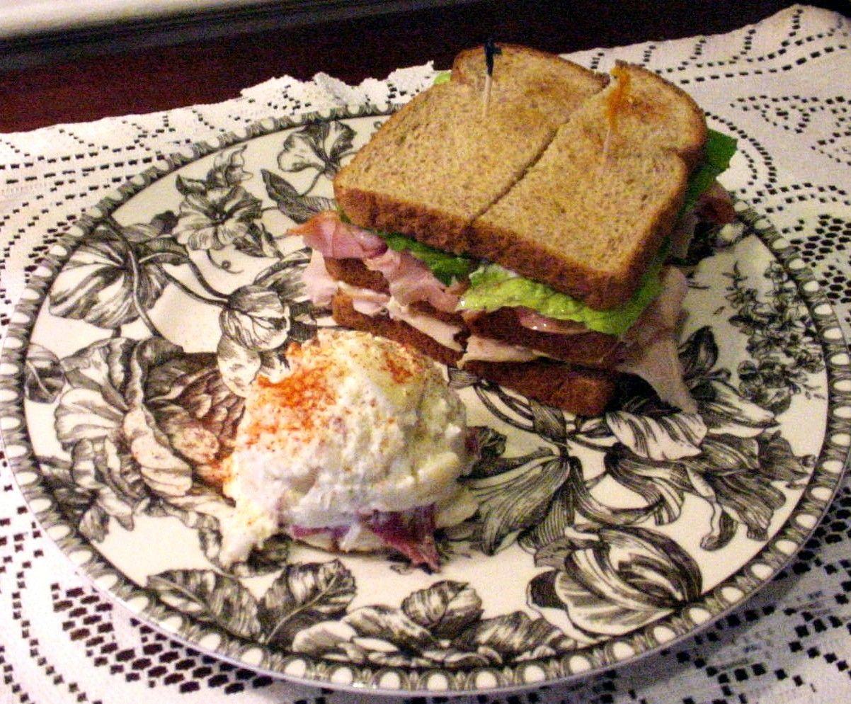 Zesty Club.... A double sandwich on choice of toasted bread. Garden ...
