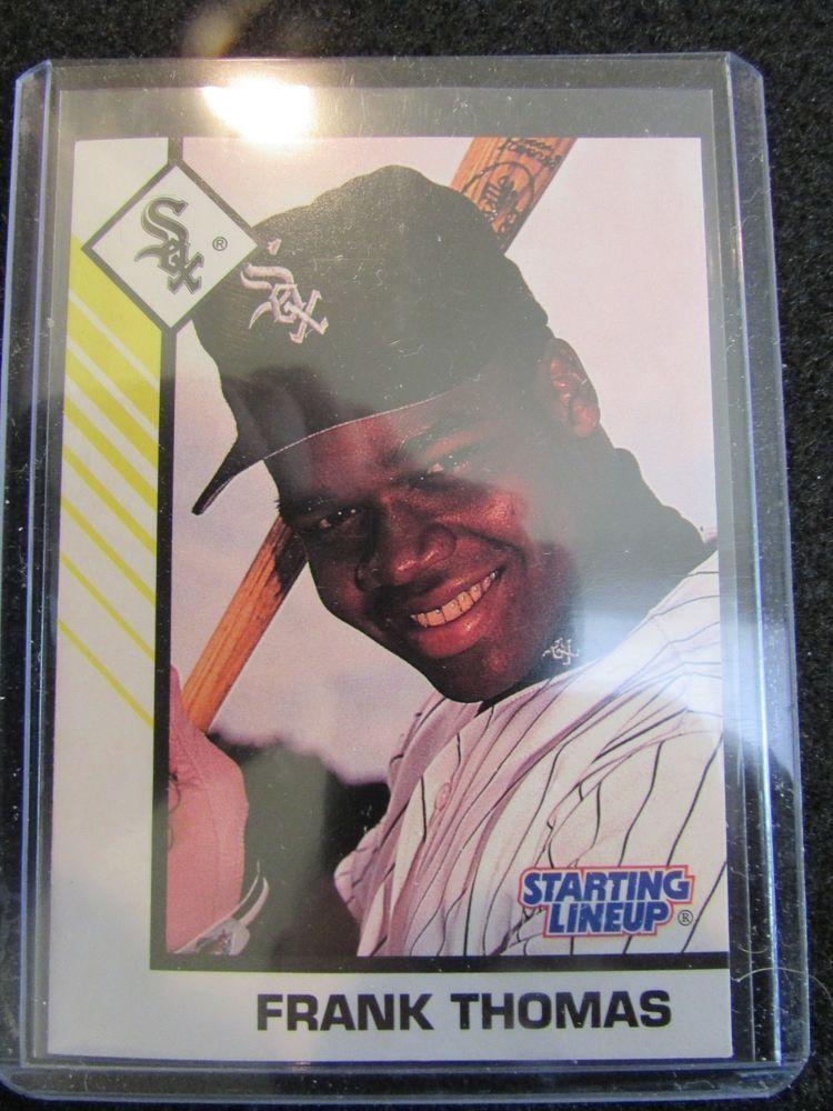1993 Frank Thomas Kenner Starting Lineup Baseball Trading Card 36
