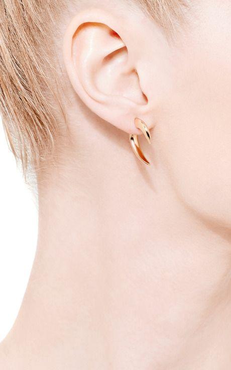 Chapado en oro Pendientes garra de Shaun Leane - Moda Operandi