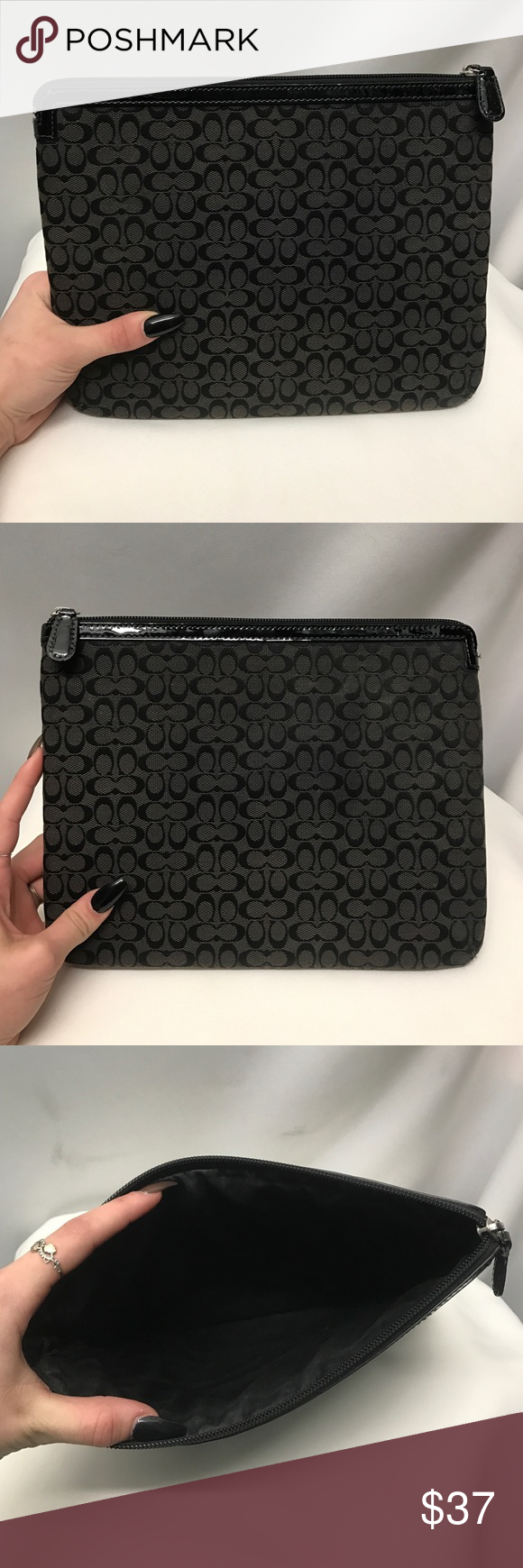 COACH ipad case Black cloth 'C' logo padded iPad case. Brand new condition. Coach Bags Laptop Bags