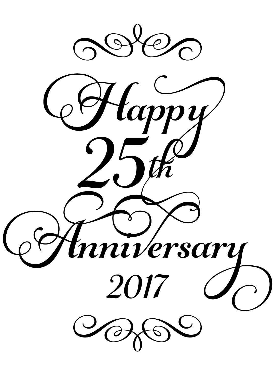 Happy 25th Anniversary Wine Label Instant Download For