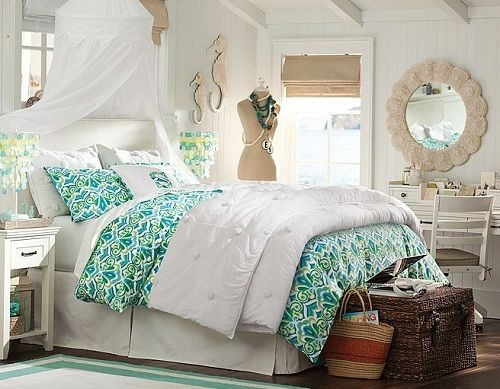 Teenage Girl Bedroom Ideas Crinkle Solid Color With Great