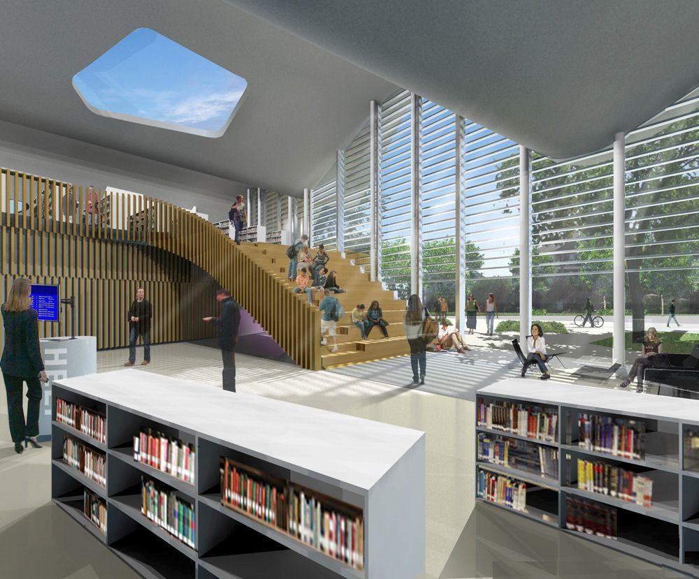 Interiors Jasper Place Branch Library Design Interior TN Home