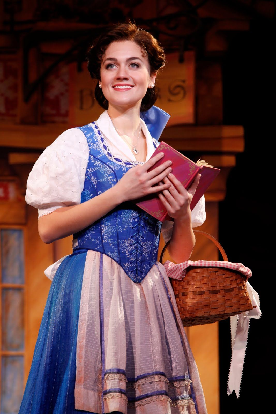 I LOVE the costume they used for Belle in the Broadway version of Beauty and the Beast. It so perfectly combines the cartoon version with the French culture and era!