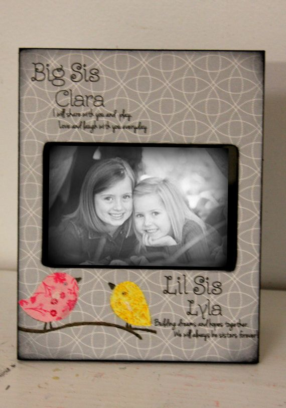 Sisters Picture Frame Birds Big Sister Little Sister Brother Picture ...
