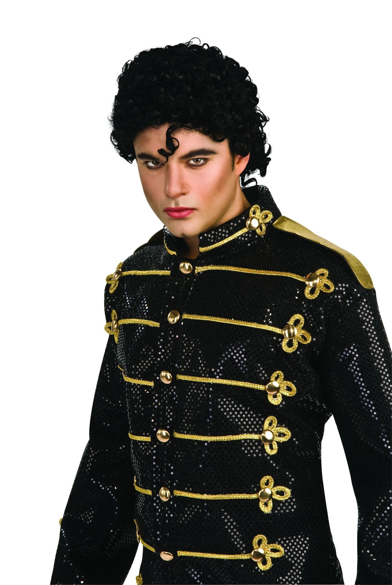 Rubies Adult Michael Jackson Thriller Curly Hair Costume Wig Accessory Michael Jackson Costume