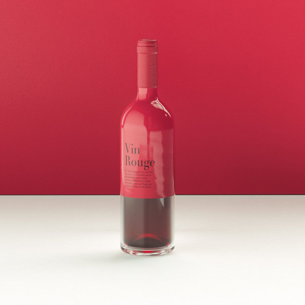 A Slick Wine Bottle Concept That Merges The Senses In 2020 Wine Bottle Wine Bottle