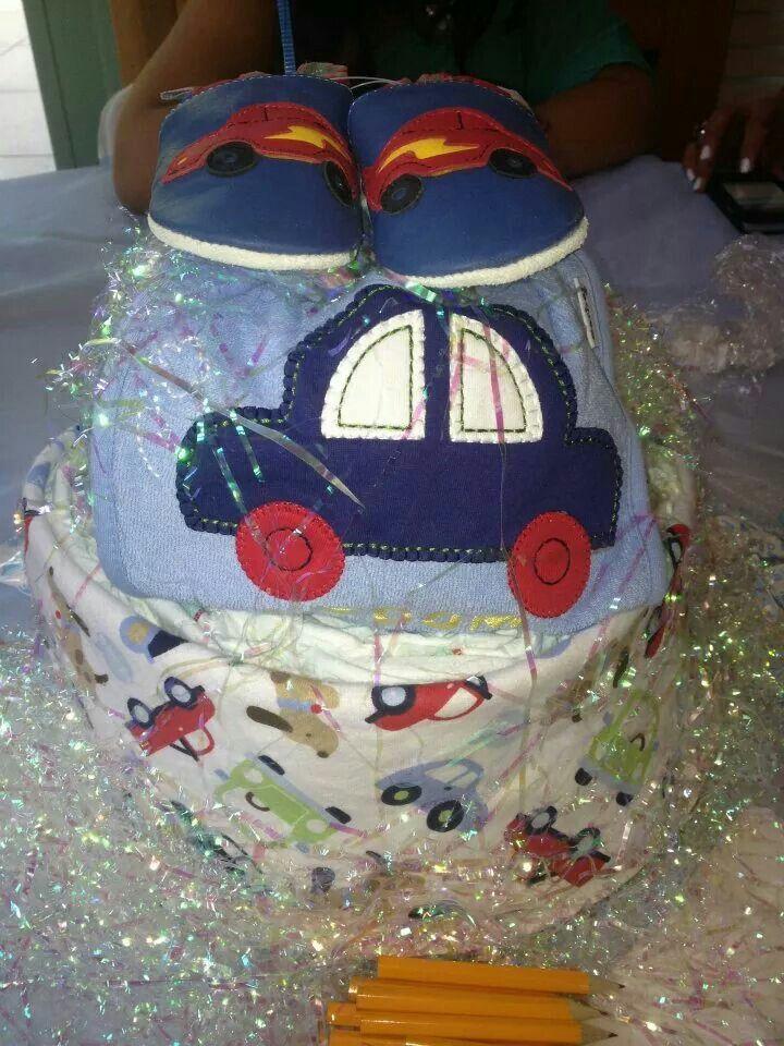Transportation diaper cake