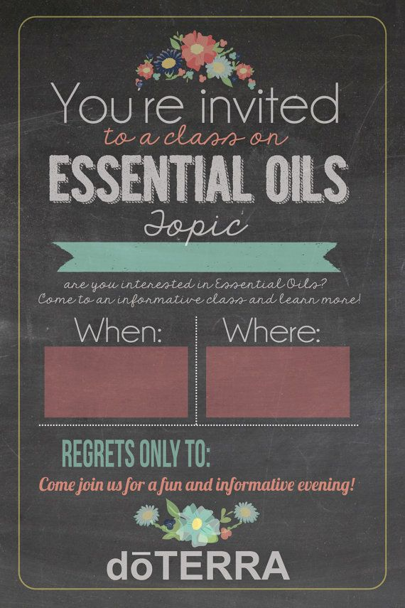 4x6 doTERRA class invitation INSTANT DOWNLOAD by ...