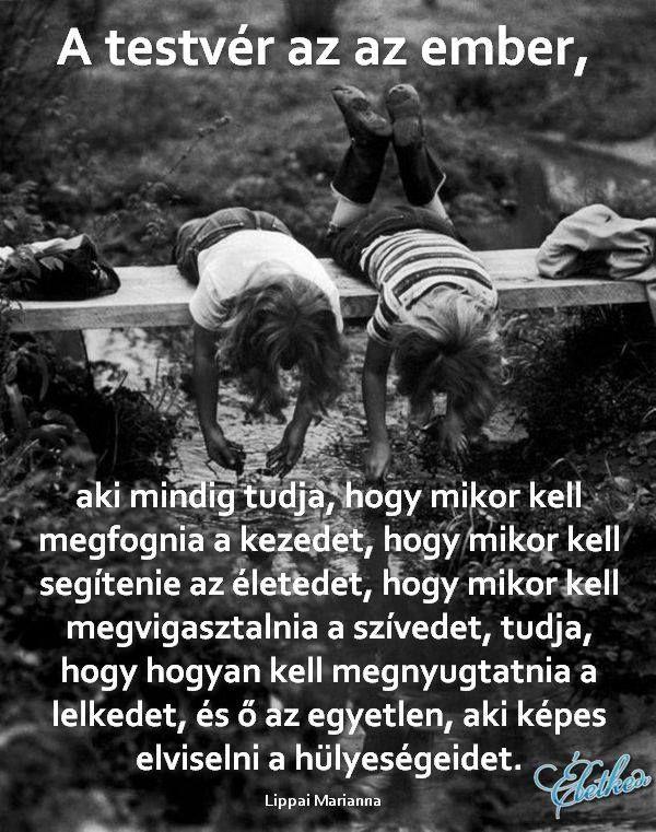 szeretlek testvérem idézetek Pin by Edit Tarjányi on Gondolatok, bölcsességek, idézetek