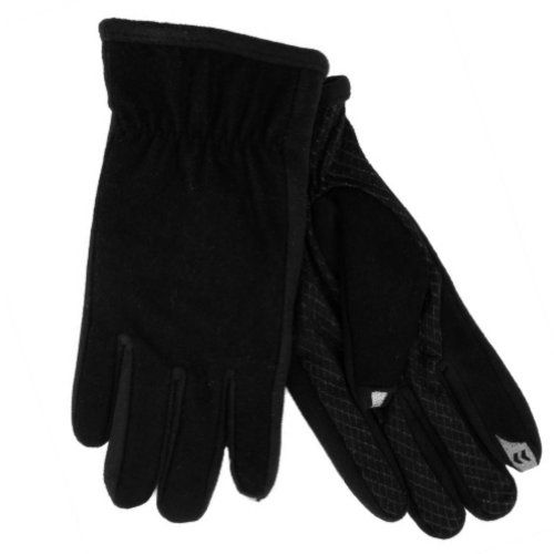 These warm black smart touch gloves have a sleek fit, warm fleece lining, and fingertips that allow you to use your iphone, ipod, or other touch screen device while your gloves are on! Size: Mens Medium Brand: Isotoner Style: Touchscreen texting gloves Materials: 43% Wool, 41% Polyester, 6% Acrylic, 5% Rayon, 5% Nylon Warm Polyester Fleece Lining Color: Black When it is cold outside...