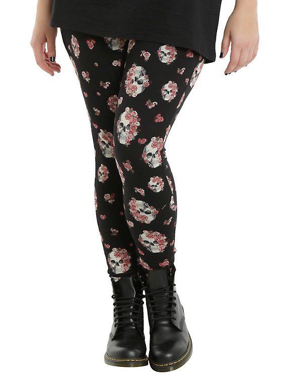 f9f4c8ea81121 Blackheart Skull Floral Leggings Plus Size in 2019 | Wish List ...