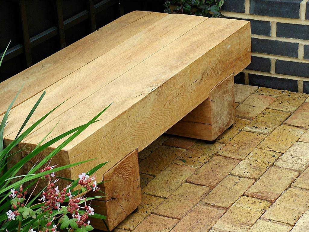 Simple Minimalist Garden Bench Design with Useful Wooden