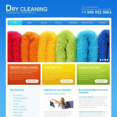 Cleaning Premium Moto CMS HTML Theme