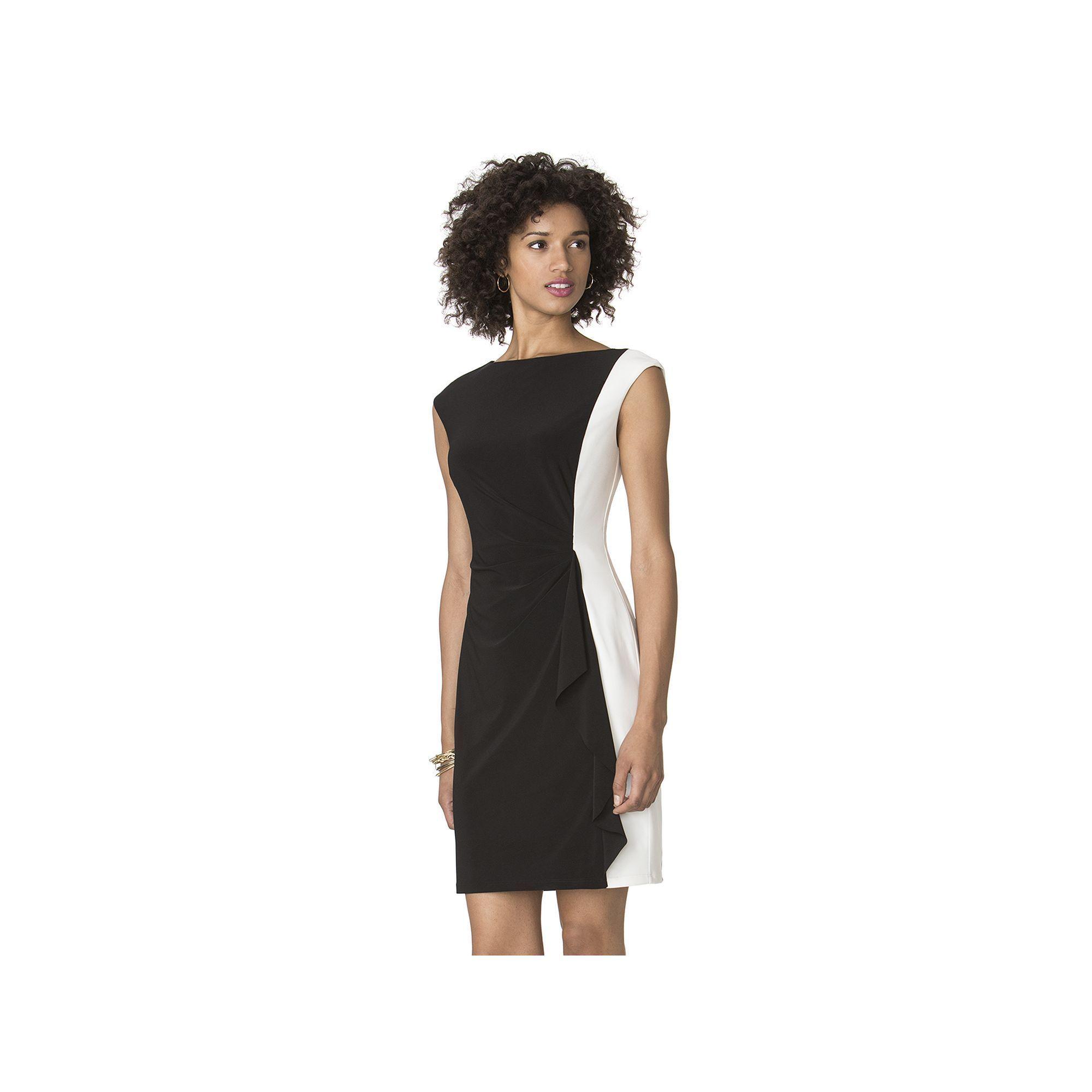 787c7ba900 Petite Chaps Colorblock Sheath Dress