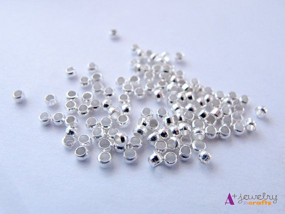 Crimp beads silver crimp beads jewelry by APlusJewelryCrafts