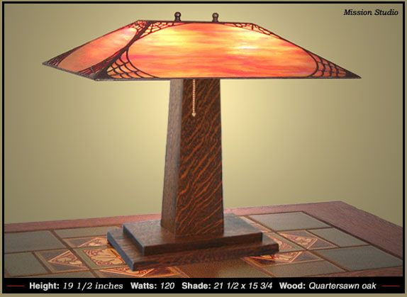 Bungalow Table Lamp Craftsman Bedside Lamps Table Lamp