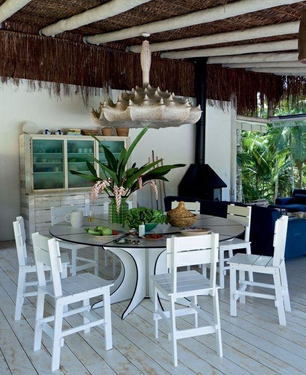 Weiße Stühle Esstisch Ums Rund Terrasse Garten HolzIdeen shBCoQdtrx