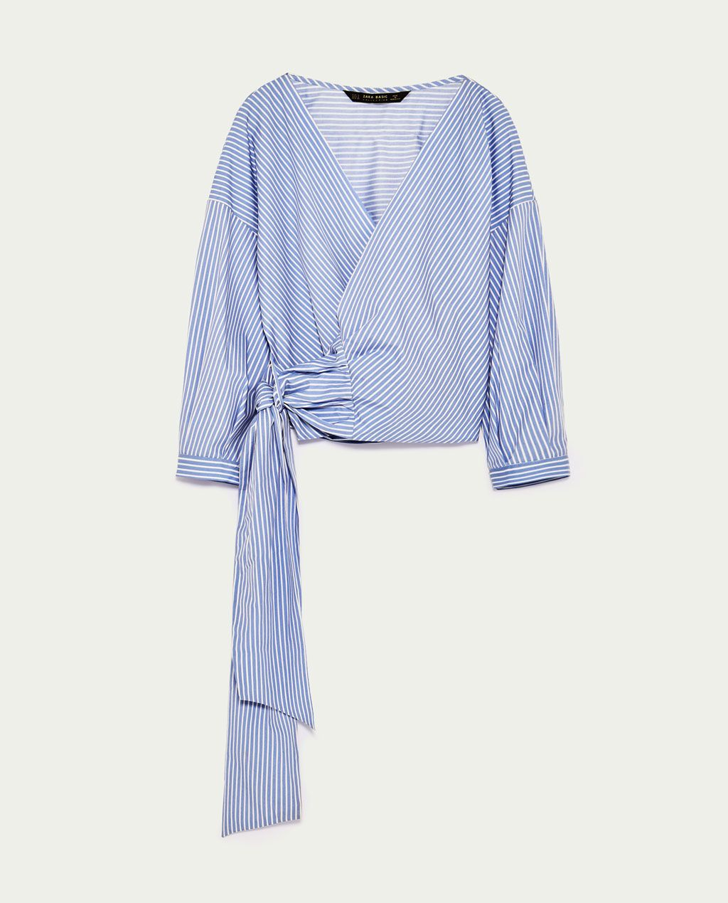 3c21405e4c54d1 Image 8 of STRIPED CROSSOVER SHIRT from Zara