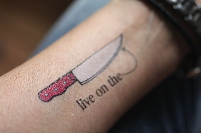 9aaa67976 Live on the Edge Temporary Tattoo by Rachel Willen | FoodFix Kitchen ...