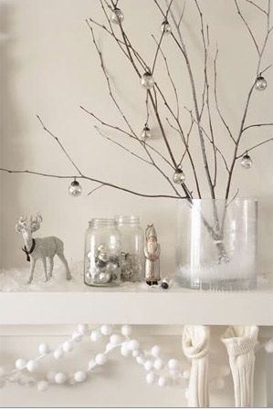 Christmas white decorations.