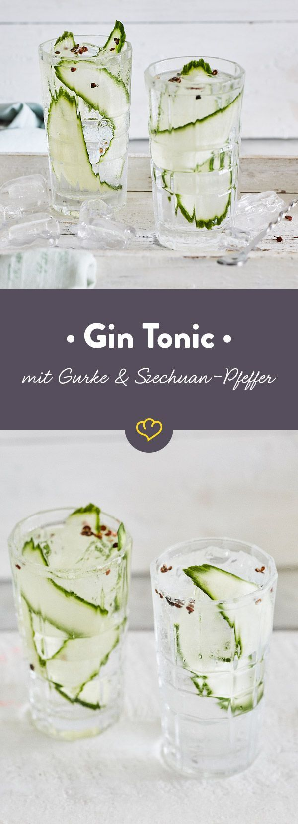 Photo of Gin and tonic with cucumber and Szechuan pepper