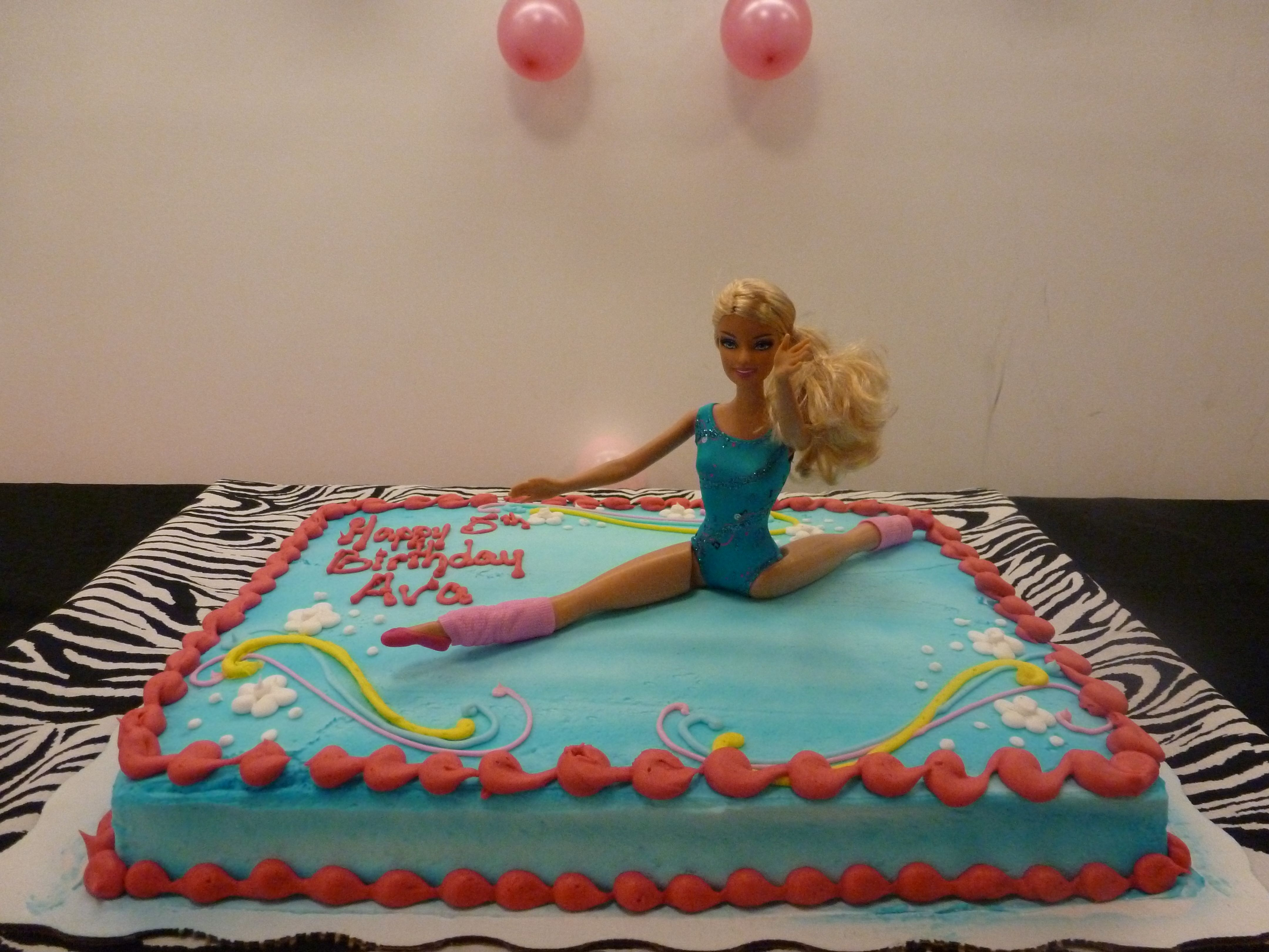 Miraculous We Couldnt Find A Gymnastics Cake So We Bought A Cake At Walmart Personalised Birthday Cards Cominlily Jamesorg