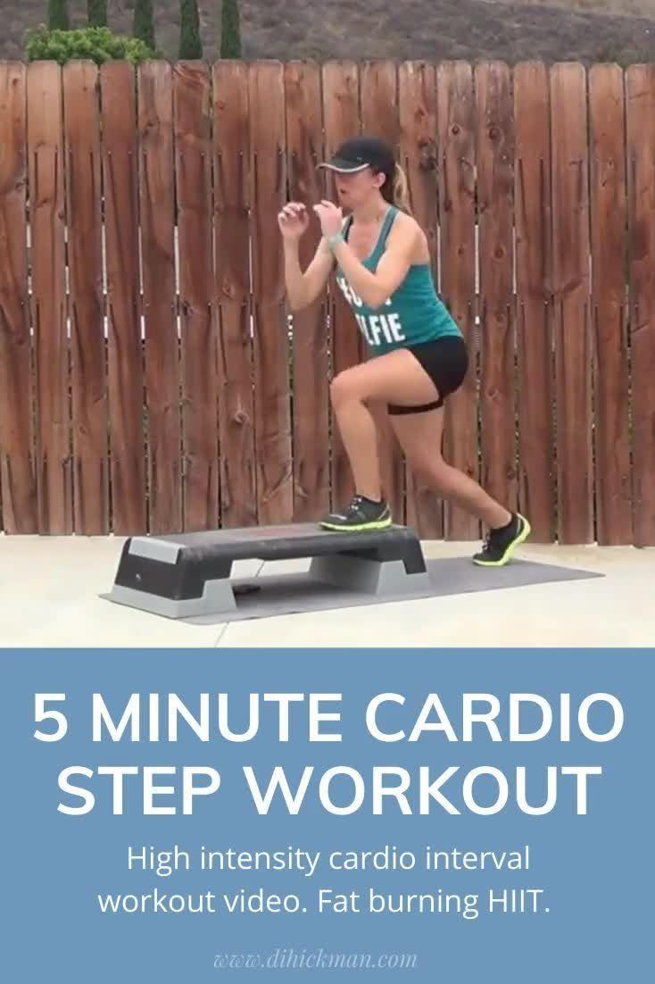 5 minute step workout video  - cardio intervals - Di Hickman
