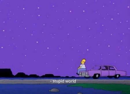homero viendo las estrellas