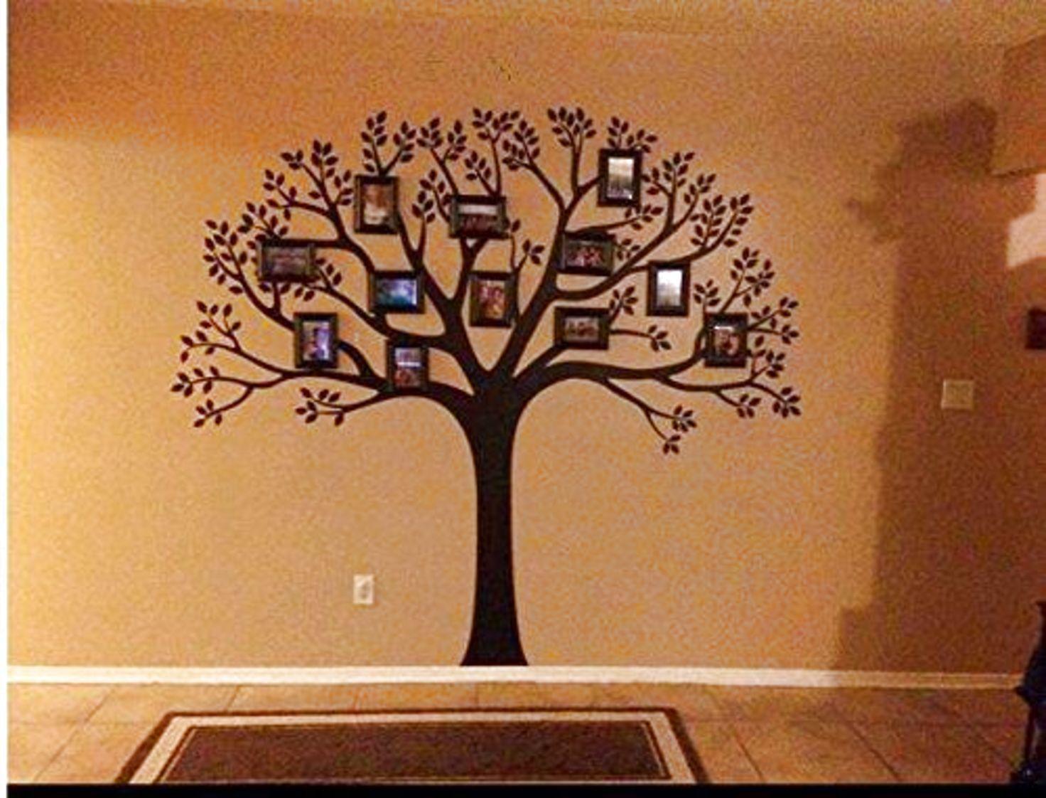 Luckkyy large family photo tree wall decor wall sticker tree branch