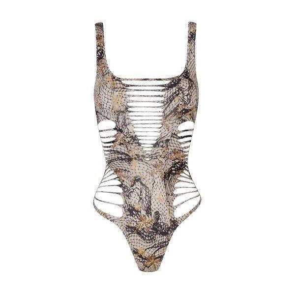 Agent Provocateur Dakotta Swimsuit Multi - 2 ( 280) ❤ liked on Polyvore  featuring swimwear 7326b96b8