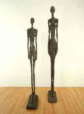 Alberto Giacometti - Striding man, Tall figure II and Tall figure III 1960