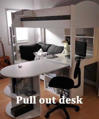 Loft Bed With Pull Out Desk Loft Bed With Couch Bunk Bed With Desk Cool Bunk Beds